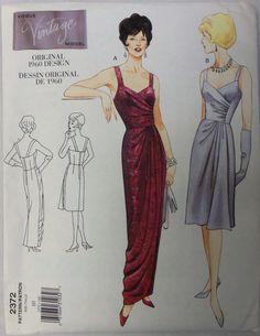 13f7d77cc476 1999 VOGUE Vintage Model 2372 Reproduction Original 1960 Design GOWN Pattern  sz 10 UNcut