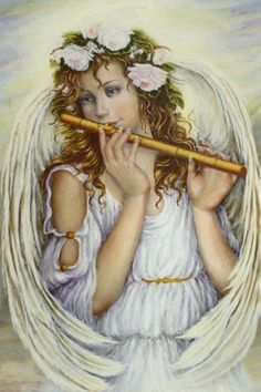 Angel and flute