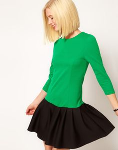 cute Asos Drop waist dress with military buttons going down the back.