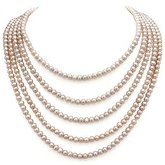 6-6.5mm Pink Freshwater Cultured High Luster Pearl Endless Necklace, 100' * Continue to the product at the image link. (This is an affiliate link and I receive a commission for the sales)