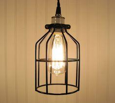 Caged Pendant Light Fixture