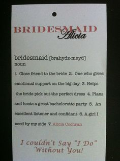 For your bridesmaid gifts :) I made these!!!