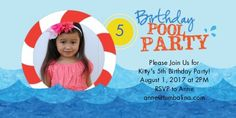 Pool Party Invitations | Pool Party Cards | Snapfish