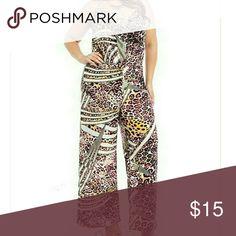 Animal print halter jumpsuit Plus size animal print halter jumpsuit Diva Pants Jumpsuits & Rompers