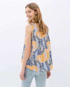 Image 5 of PRINTED POPLIN TOP from Zara