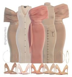 Very Cute Summer Outfit. This Would Look Good Paired With Any Shoes. - Celebrity Style and Fashion Trends - Celebrity Style and Fashion Trends Classy Outfits, Chic Outfits, Fashion Outfits, Fashion Tips, Fashion Trends, Nude Dress Outfits, Dress Fashion, Look Fashion, Runway Fashion