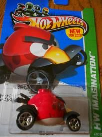 HOT WHEELS ANGRY BIRD  RED BIRD  5.80 FREE SHIPPING!!