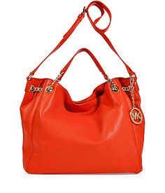 Micheal Kors Mandarin Leather Jet Set Chain Tote