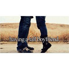 Having a tall fiancé