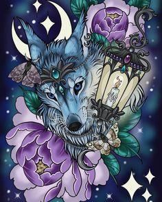 World of warcraft inspired vulpine familiar fox digital print Traditional Tattoo Sketches, Neo Traditional Tattoo, Warcraft Art, World Of Warcraft, Elf Druid, Dream Catcher Art, Wolf Artwork, Night Elf, Wolf Pictures