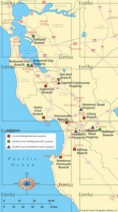 Quarry business locator maps © Eureka Cartography, Berkeley, CA