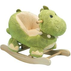 Our Charm Company Dewey Rocking Dinosaur is a perfect children's first rocker. The Charm Company Dewey Rocking Dinosaur has a wood rocker base with non-toxic finish, low to the ground design, soft plush body and padded bucket seat to hold kids securely. Dinosaur Nursery, Dinosaur Toys, Dragon Nursery, Baby Boys, Baby Boy Toys, Toddler Toys, Baby Dinosaurs, Baby Boy Nurseries, T Rex