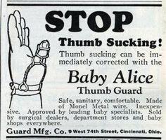 Baby Alice Thumb Guard.