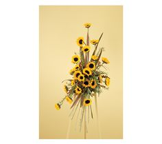 Sunflower Spray Arrangement Funeral Flowers by Lorraine