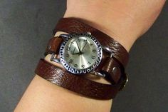 Wrap Around Leather Watch Womens Watch Leather by 4MLeatherDesign, $58.00