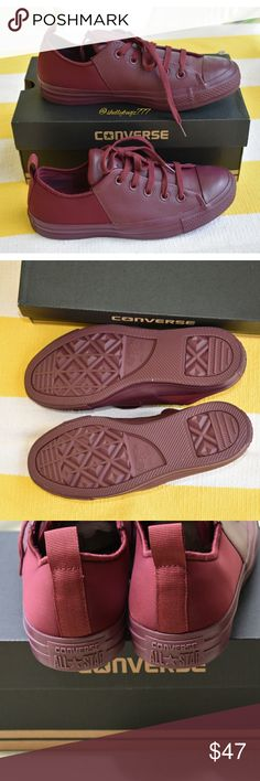 Converse Abbey Monochrome Leather Converse Abbey Monochrome Leather - Color: Deep Bordeaux - New never used  My Mom bought this for me from Dillard's and I have yet to wear it. I wear size 7.5 in Converse, but these fit small. Converse Shoes Sneakers