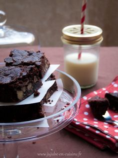 Brownie aux noix (sans lactose, sans gluten et sans oeufs - vegan)