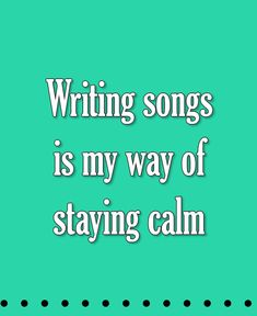Writing songs is my way of staying calm #singing #singingtips #music