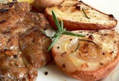 szerint Meat Recipes, Baked Potato, Pork, Food And Drink, Potatoes, Chicken, Baking, Ethnic Recipes, Kale Stir Fry