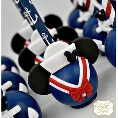 It's Nautical Mickey Mouse themed cake pops for Matthew's birthday celebration! Nautical Cake Pops, Nautical Birthday Cakes, Nautical Mickey, Theme Mickey, Mickey Party, Nautical Baby, Sailor Birthday, Sailor Party, Mickey Mouse First Birthday