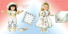 """Announcing the Hankie Couture® book!  Here are pages 82-83.  """"Doll Couture"""" has delightful doll surprises!  By Marsha Greenberg, published by Running Press, 168 pages #doll #hankiecouture"""