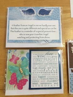 Wings handmade cards