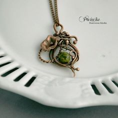 Renaissance  necklace copper wire by Pracowniamiedzi on Etsy