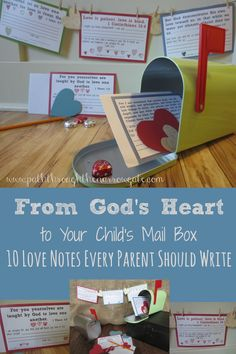 My kids love getting hand-written notes, and I bet yours do to! These mailbox love notes make it simple to give your children handwritten notes reminding them of God's love and your own! Train Up A Child, Christian Parenting, Bible Lessons, Love Notes, Raising Kids, Parenting Hacks, Parenting Websites, Teaching Kids, My Children