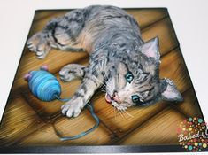 Eddy the cat - Cake International - Cake by Baked4U