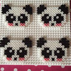 Pandas perler beads by prickigapaula