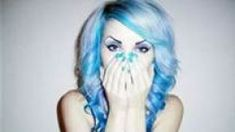 How to color your hair blue without harsh chemicals.  These are some fun easy ways to get blue hair.  All of the dyes are semi permanent and will fade out over time.  These techniques are safe and will not cause much damage to your hair.