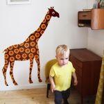 Katoenen Sticker Giraffe