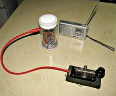Two Morse Code AM Transmitters - Very, very primitive circuit, but might work for QRP if you tune it to a legal ham radio frequency.