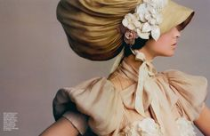 we need more extravagant hats/bonnets/headgear (patricia schmid by alix malka)