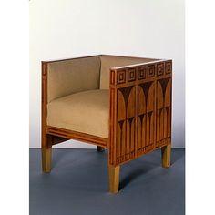 Armchair designed by Koloman Moser for breakfast room in Eisler von Terramare apartment