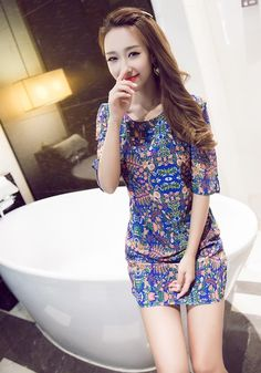 #2015# Summer New Ladies Fashion Sexy Dress http://www.clothing-dropship.com/2015-summer-new-ladies-fashion-sexy--dress-as-the-picture-g2340083.html