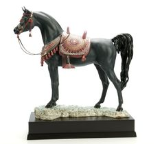 Lladro 01919 ARABIAN PURE BREED (BLACK)  http://www.lladrofromspain.com/0arpubrbl.html  Issue Year: 2014  Sculptor: Ernest Massuet  Size: 49x46 cm  Base included  Limited Edition 300 pieces  #lladro #arabian #pure #breed #horse #purebreed #handmade #porcelain