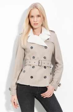 Burberry Brit - Double Breasted Shearling Coat