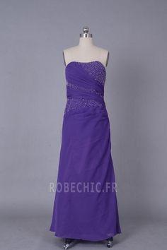 Robe de Soirée Fourreau Perle Sans Manches semi-halter Bustier - Page 1