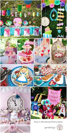 Alice in Wonderland Party Ideas! by jill Mad Hatter Party, Mad Hatter Tea, Mad Hatters, Tea Party Birthday, Birthday Party Themes, Birthday Ideas, Theme Parties, Alice Tea Party, Alice In Wonderland Tea Party