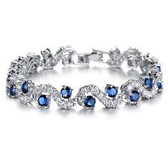 Opk Jewelry Platinum Plated Swarovski Elements Cubic Zirconia bracelet For women Wedding Jewely,Blue OPK http://www.amazon.com/dp/B00LO5RHOW/ref=cm_sw_r_pi_dp_01ofvb0HZJ154