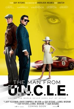 A seriously stylish new poster from IMAX. See #ManFromUNCLE on the big screen on August 14. | The Man from U.N.C.L.E.