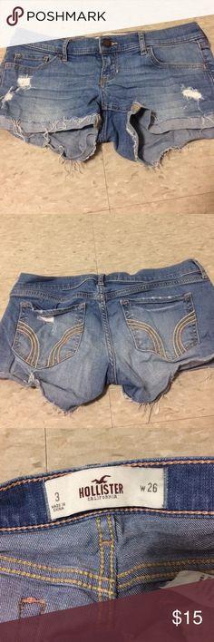 Hollister shorts size 3 Hollister shorts size 3 lightly used Hollister Shorts Jean Shorts