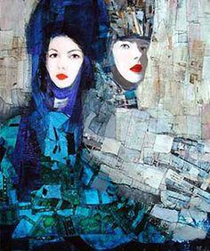 Richard Burlet / To Klimt Figure Painting, Painting & Drawing, Richard Burlet, Portrait Art, Portraits, Neo Rauch, Ligne Claire, Gustav Klimt, Illustrations