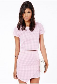 Monica Dogtooth Crop Top - Tops - Box Tops - Missguided
