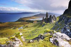 Western Isles, Scotland. The Old Man of Storr on the beautiful Isle Of Skye.