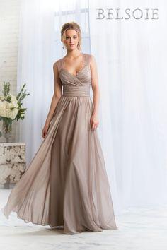 Jasmine Belsoie Bridesmaid Dresses - Style L164057 #taupebridesmaiddresses #greenandbrownwedding