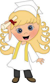Dibujos. Clipart. Digi stamps - Girl - School - Graduation - Diploma Pre K Graduation, Graduation Theme, Graduation Cards, Preschool Graduation, High School Memories, School Clipart, How To Make Toys, Clip Art, Cute Clipart