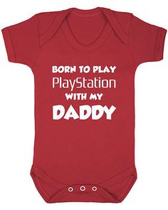 Born to playstation  New Bodysuit  infant Baby Shower console Sony GB Call duty