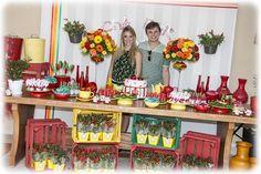 Decoração de Chá-Bar com Pimentas - Peguei o Bouquet